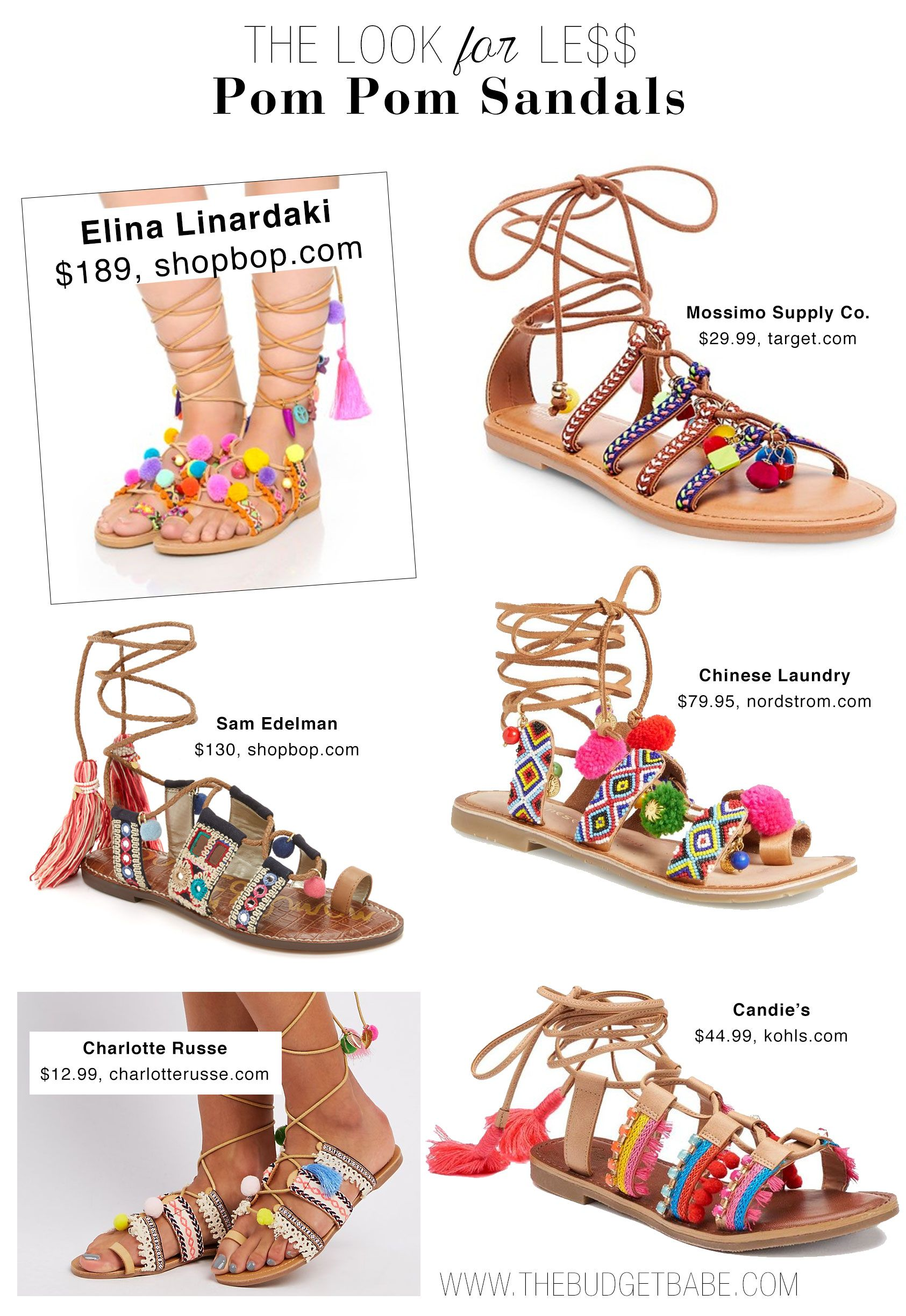 fc3930391 Shop the pom-pom sandal trend inspired by Elina Linardaki s covetable  designs - including a Target dupe under  30!