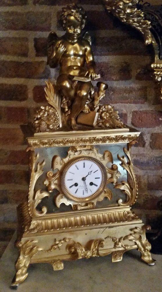 EMPIRE KAMINUHR MANTEL CLOCK UM 1827 PARIS EINMALIG !
