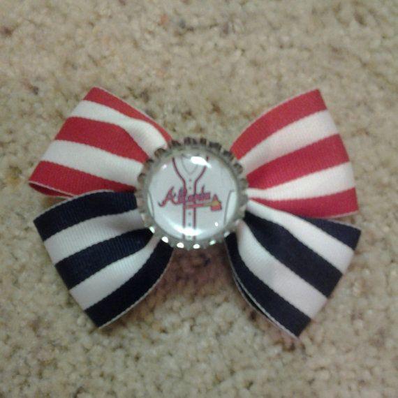 MLB Atlanta Brave  Baby Barrette  Girls Hair Bow by SashaBowtique, $6.00