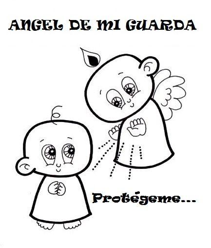 Colorea oraciones al Ángel de la Guarda: Escribe una oración en esta ...