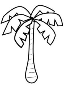 Palm tree | Tree coloring page, Pattern coloring pages ...