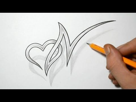 Letter U And Heart Combined Tattoo Design Ideas For Initials