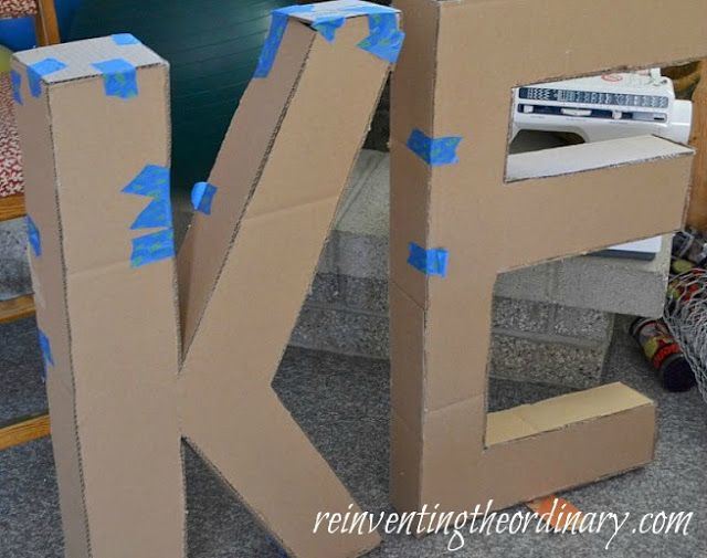 Reinventing The Ordinary May 2012 For Your Party 3d Letters Diy Letters