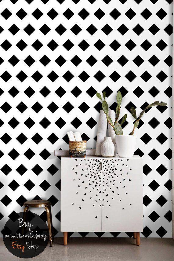 geometric wall art mural, self adhesive wallpaper, removable