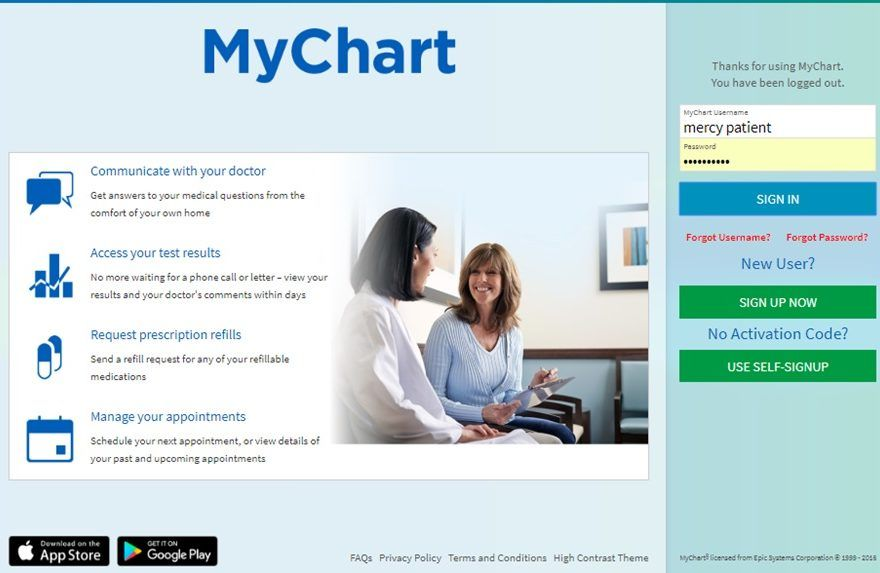 My Chart Mychart Login Fairview Mychart Community Osit Lite Health Chart Health Services Health System