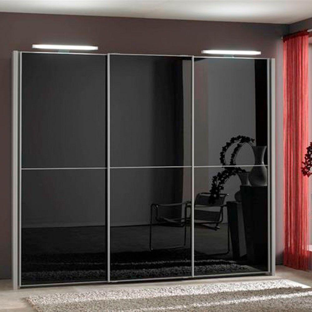 Engaging-Black-Glass-Sliding-Door-Wardrobe-Design-Ideas ...