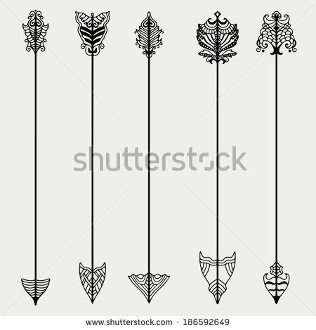 Piercing Vector Set Of Vintage Arrows
