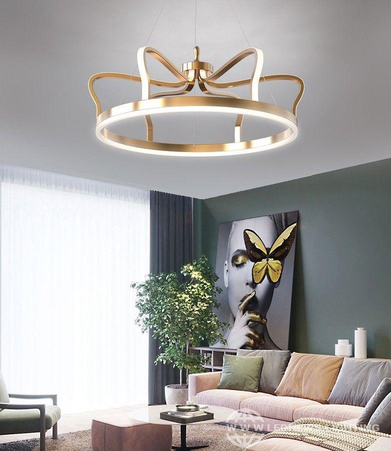 Creativo Corona Di Led Lampadari 68w 92w Moderno Nordic Oro Apparecchi Di Illuminazione Living Room Lighting Design Living Room Lighting Beautiful Interiors