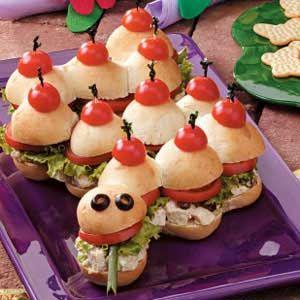 Garden Snake Sandwiches - great for Spring birthday parties!