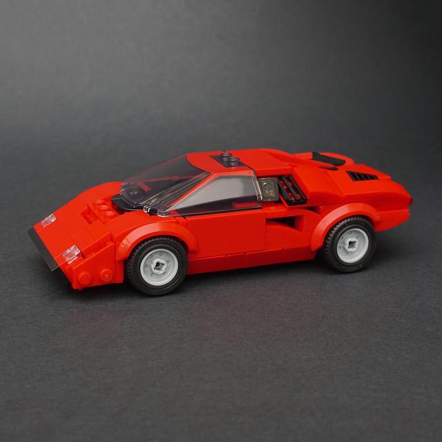 Lamborghini Countach Lp400 In 2020 Lego Cars Lamborghini Countach Lego Speed Champions