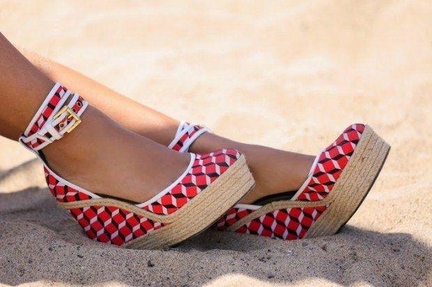 Pré-commander dernière remise concepteur neuf et d'occasion des chaussures d'été compensées   shoes   Chaussure ...