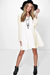 Aria Chiffon Babydoll Smock Dress