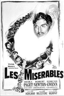 Les Misérables (1952)   Movie Poster. Starring Michael Rennie ...