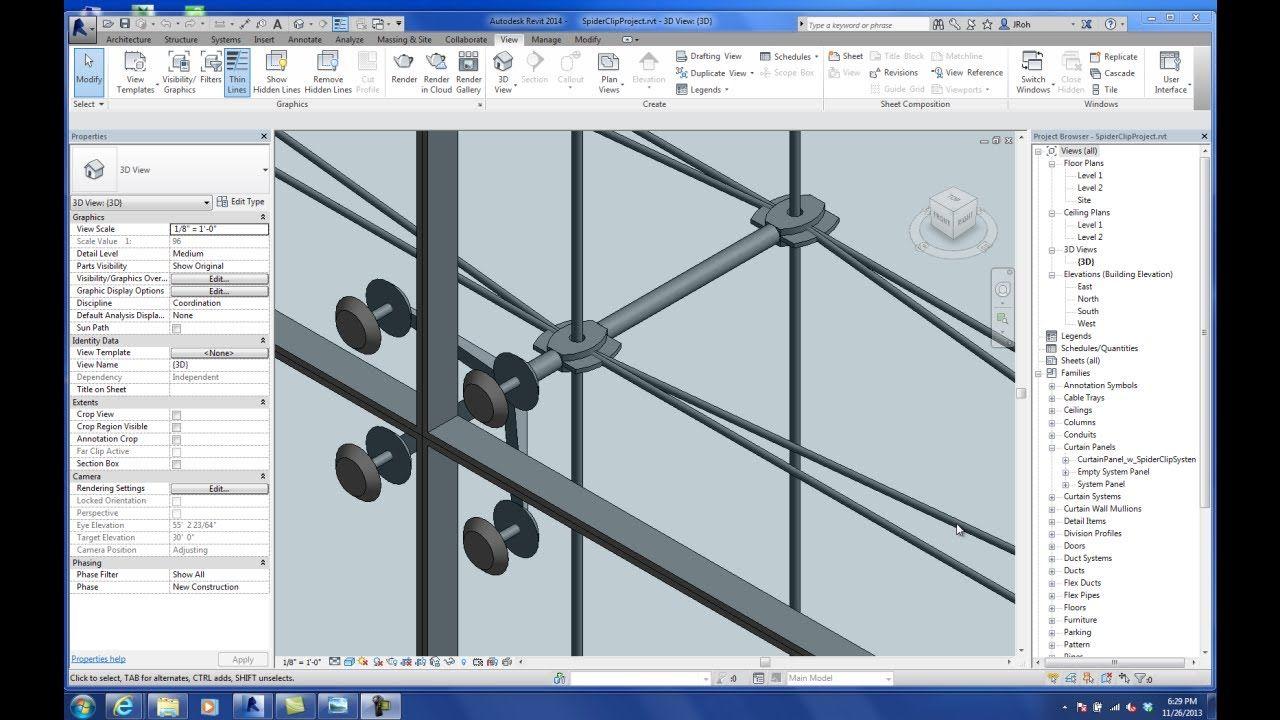 Bimethods 20131126 Class29 Youtube Revit Tutorial Facade Architecture Architecture Model