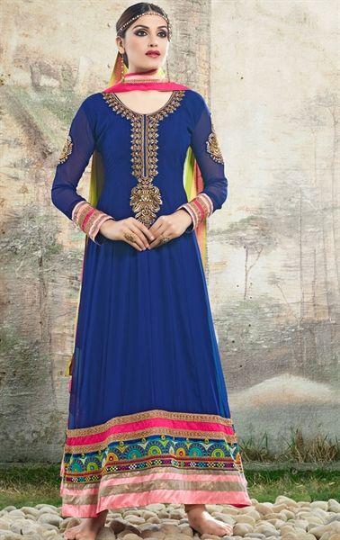 0bbe3a646de Picture of Dazzling Blue Color Salwar Suit for Wedding