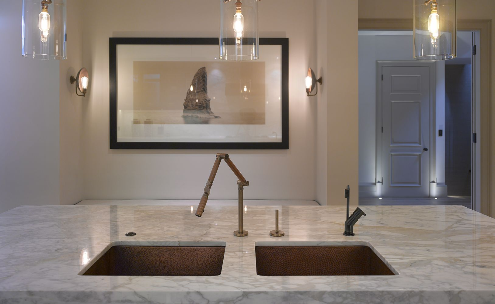 Roundhouse bespoke luxury kitchen work surface in