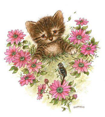Belles illustrations  de chats