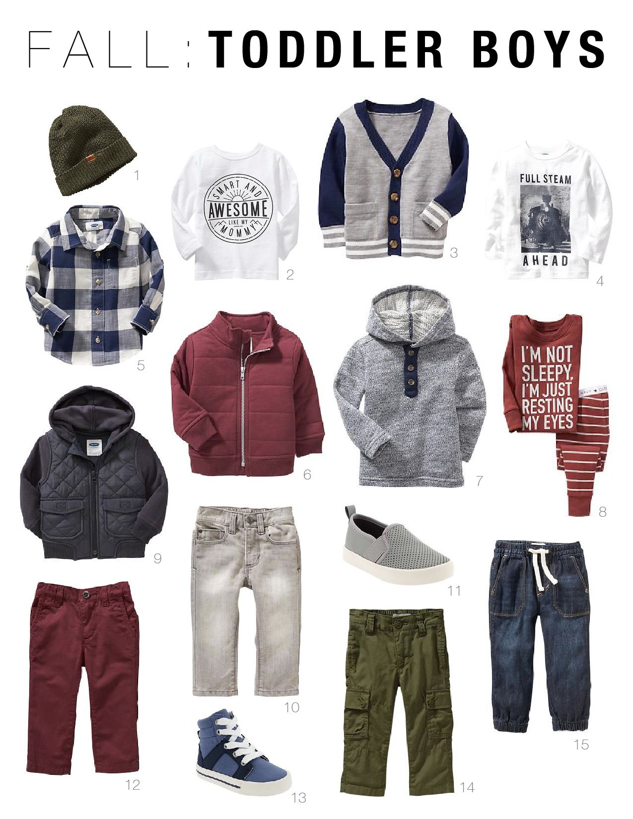 bab85e94c80e7 Make getting your toddler dressed easy this fall with mix-n-match pieces  for your baby boy or girl from Old Navy. Adorable