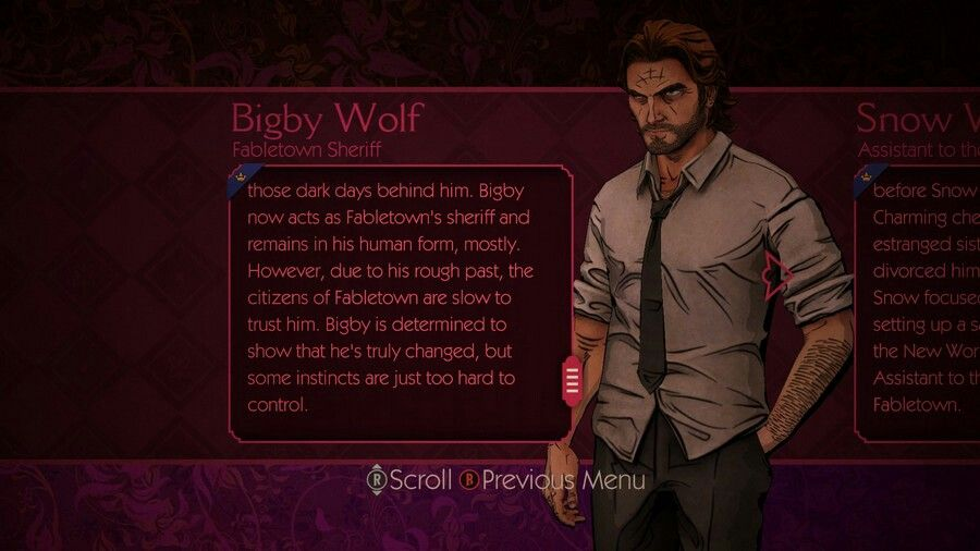 Can You Get Divorced In Skyrim Bigby S Profile The Wolf Among Us Big Bad Wolf Snow Now