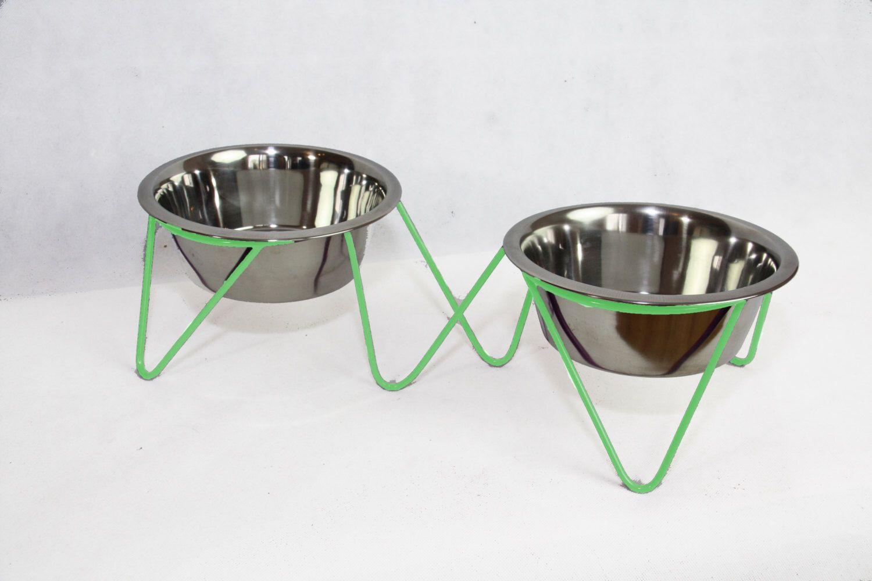 Wire Feeding Stand Modern Pet Feeder Rised Pet Feeder Elevated Dog Bowl Modern Disign Modern Cat Bowl