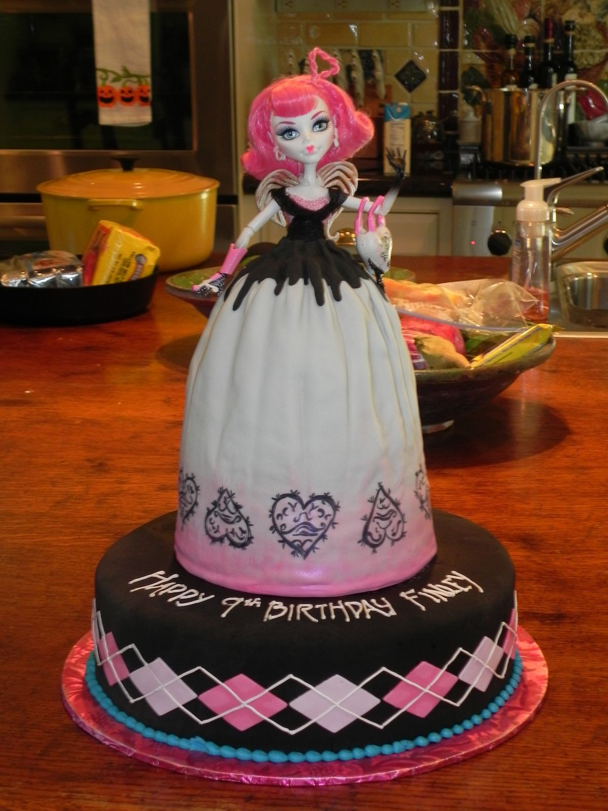 Phenomenal Monster High Doll Cake With Images Monster High Cakes Monster Personalised Birthday Cards Sponlily Jamesorg