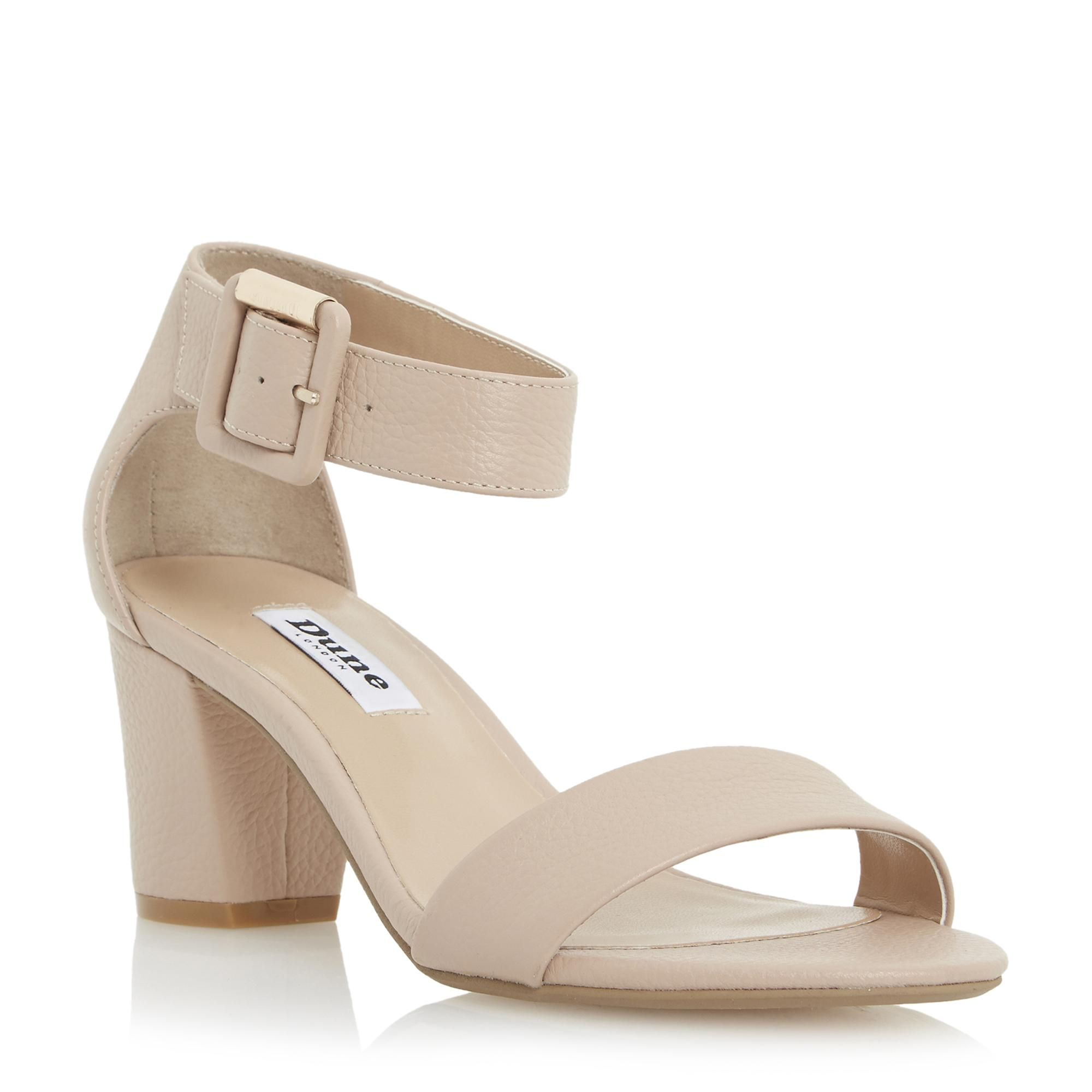 a3e154db71 DUNE LADIES JOYE - Two Part Block Heel Sandal - nude | Dune Shoes Online