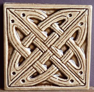 Decorative Relief Tiles Delectable Decorative Relief Carved Ceramic Celtic Knotearthsongtiles Design Decoration