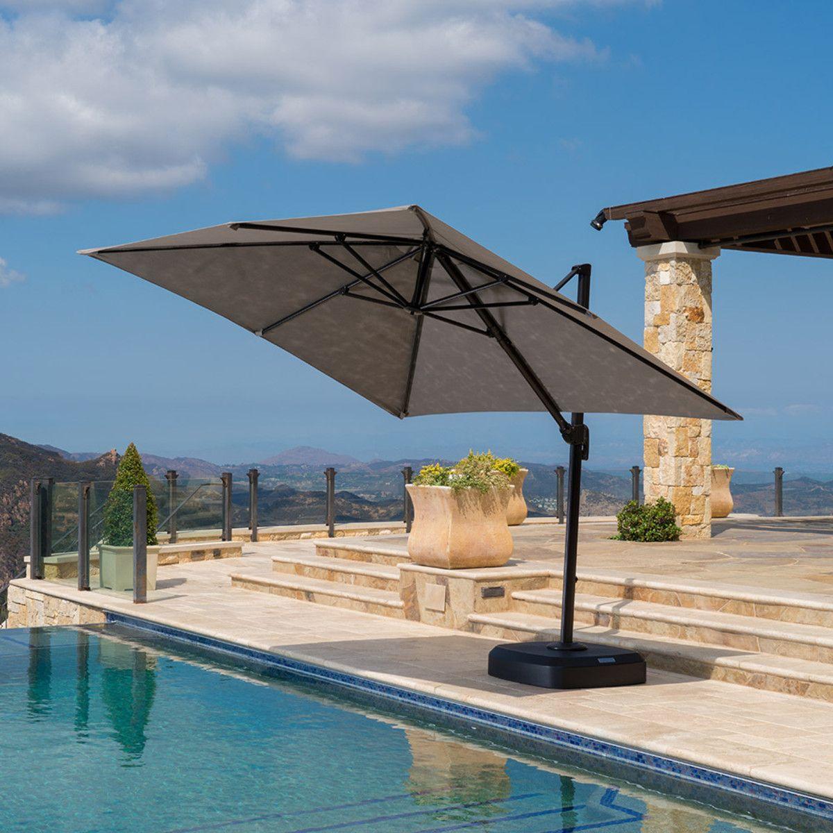 Portofino Comfort 10ft Resort Umbrella Espresso Taupe Rst Brands With Images Patio