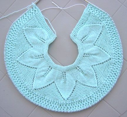 Ravelry: Project Gallery for Leaf and Lace Set for 3 Months pattern ...