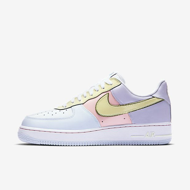 buy popular 016c6 7a715 Chaussure Nike Air Force 1 Pas Cher Homme Low Retro Titane Rose Tempete  Vert Citron Glace