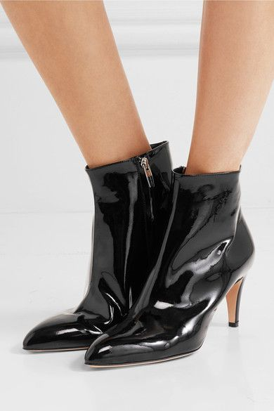 Gianvito Rossi 70 Patent-leather Ankle Boots Original Cheap Online Store Sale 7Dm4grHoT6