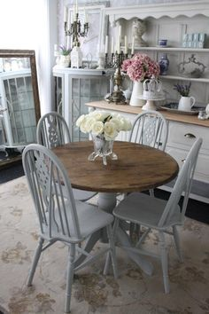 Gray Chairs  Decoración Casa  Pinterest  Nest Pleasing Ideas For Painting Dining Room Table And Chairs Design Inspiration
