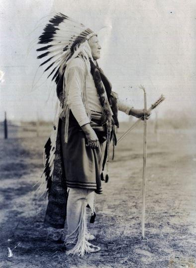 Pohd-Lohk (aka Old Wolf, aka Kiowa George, aka George Poolaw) - Kiowa - before his death in 1939