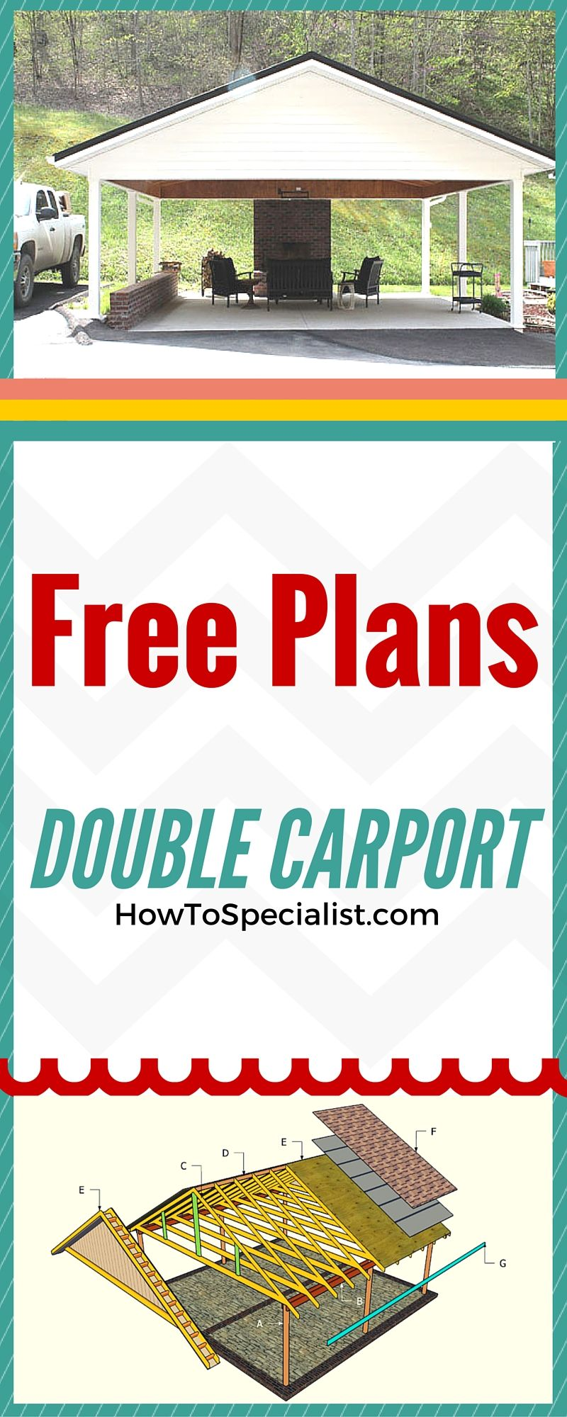 How to build a double carport Double carport, Building a