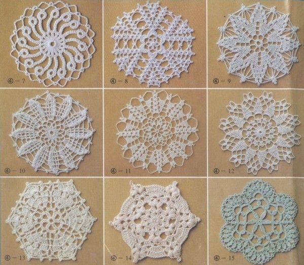 Motifs et leurs grilles gratuites au crochet bijoux - Napperon crochet grille gratuite ...