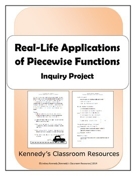 RealLife Applications of Piecewise Functions Inquiry