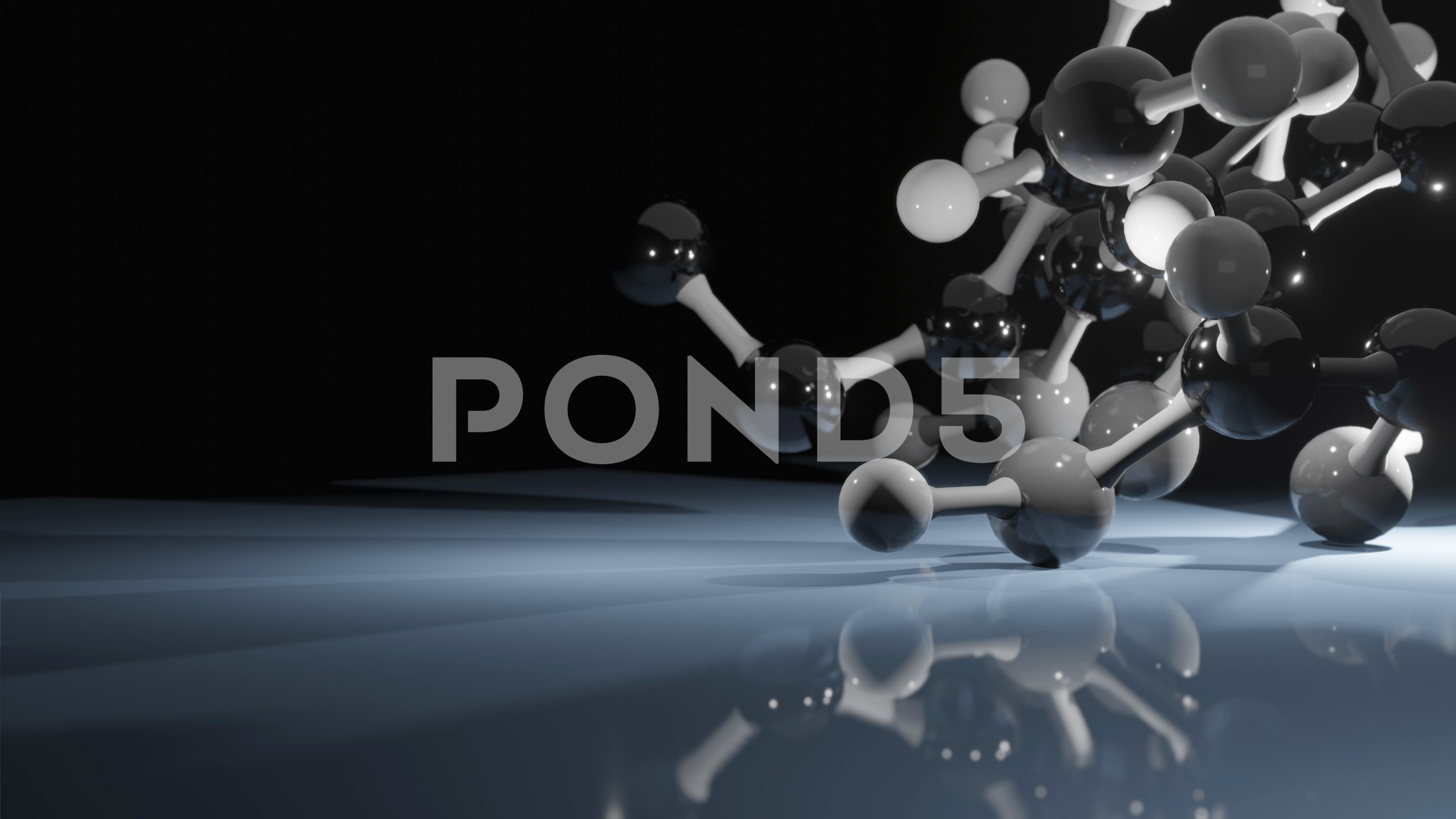 Physics Molecule Model Science Or Medical Background With
