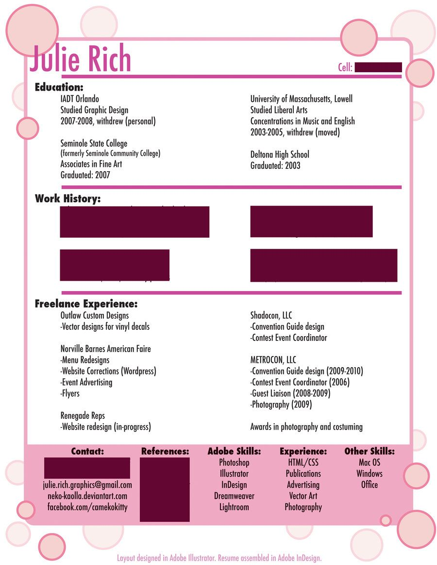 Graphic Designer Resume Examples Graphic Design Resume~Nekokaolla On Deviantart  Cvs Resumes