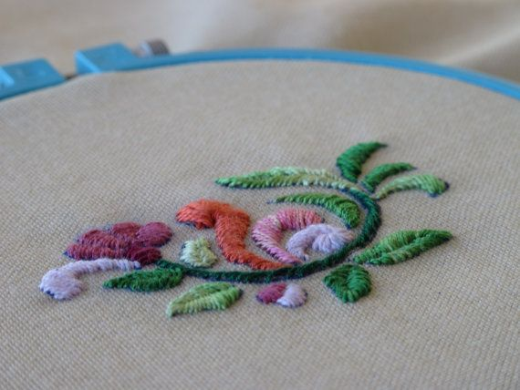 Embroidery Kit  Blooming pattern kit. Printing by EmbroideryDreams