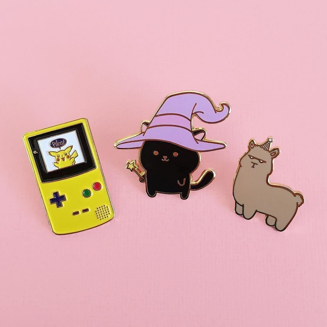#Repost @lovetappins We're excited to reveal our newest pin drops! Pokemon Gameboy Witchy Kitty and Party Alpaca are now available on our Etsy store link in bio. #enamelpin #enamelpins #pin #pins #lapelpin #lapelpins #hatpin #hatpins #flair #pingame #pingamestrong #pinlife #pincommunity #pincollector #pincollection #pinaddict #pinlord #pinsofig #pinstagram #pinoftheday #pinsforsale #pinmakerssupergroup #pokemon #pokemonyellow #gameboy #gameboycolor #pikachu #catpin (Posted by…