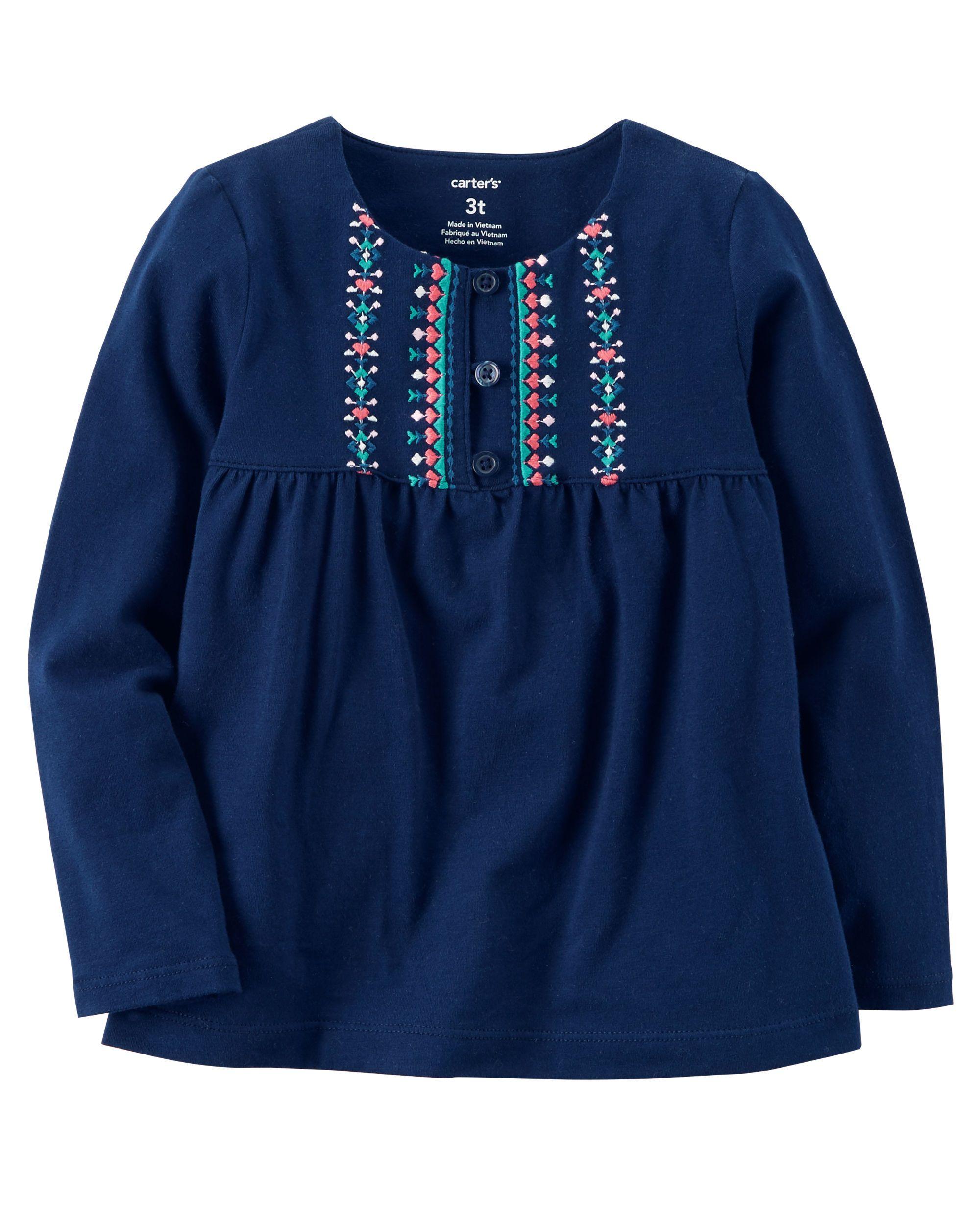 a89eba2f Embroidered Babydoll Top | Baby Girl | Niños, Bebe, Túnicas