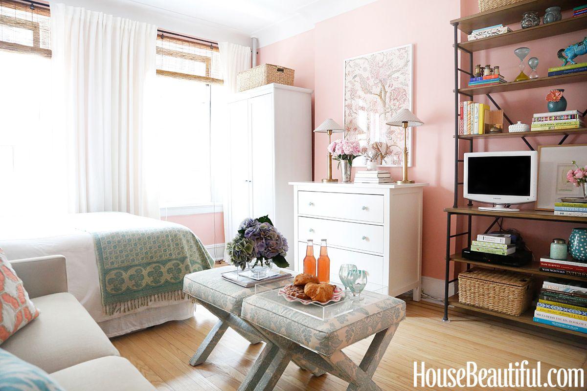 Blush Bedroom With Images Apartment Design Studio Apartment