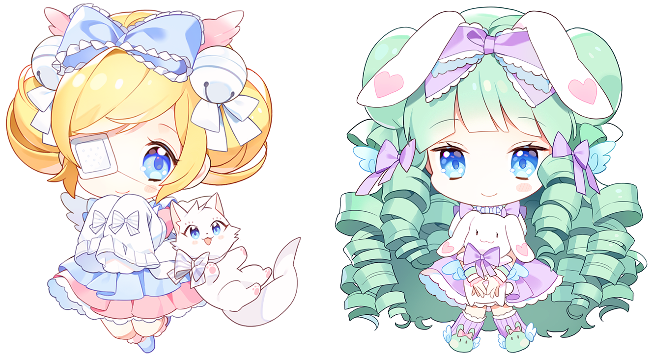 """Submitted By:Serene1Submitted On:March 3rd, 2017 3:51 AMFile size: 808.4 kB Dimensions:1325x726 (0.962 MPixel) Tags: """"bells"""" """"blonde hair"""" """"blue eyes"""" """"blush"""" """"cat"""" """"chibi"""" """"curly hair"""" """"dress"""" """"eyepatch"""" """"green hair"""" """"heart"""" """"long hair"""" """"odango"""" """"rabbit"""" """"smile"""" """"usa mimi"""" """"wings"""" Artist: """"cutesu"""""""