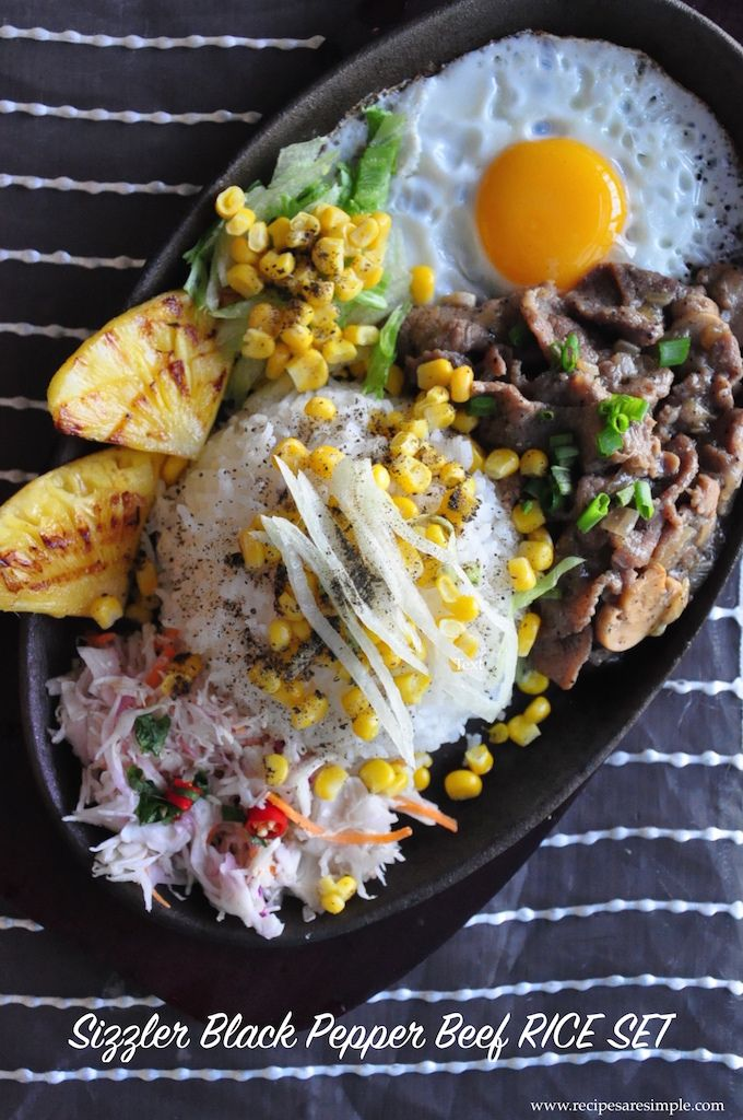 Sizzling Black Pepper Beef Plate Recipe This Is Aplete Set Meal The Star Of Which Is The Sizzling Black Pepper Beef The Peppery Sizzler Beef Is