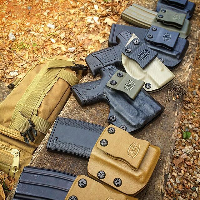 The Dara Holsters line up: - mag carriers & tactical hear