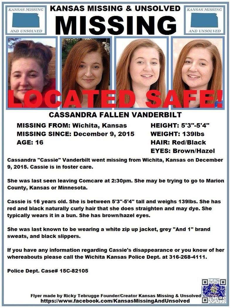 WE HAVE BEEN INFORMED THAT CASSIE HAS BEEN LOCATED SAFE!!! THANK YOU TO ALL WHO SHARED HER FLYER!!!