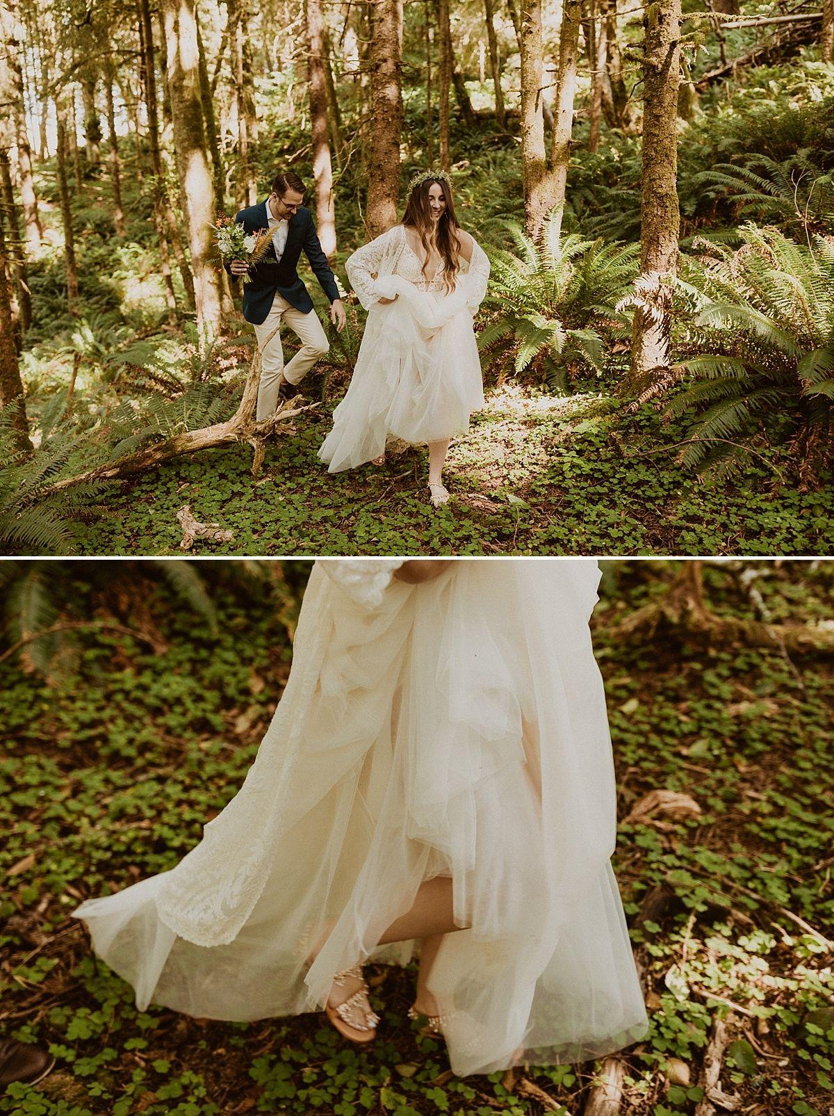 Intimate Wedding along the Oregon Coast   Winter wedding ...