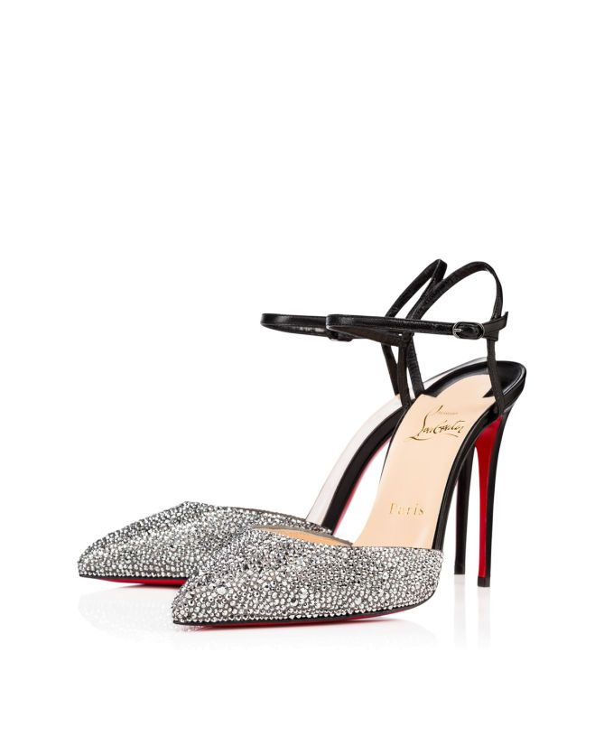 86155e522c1 Christian Louboutin Rivierina Stras Strass 100 mm - Shoes Post
