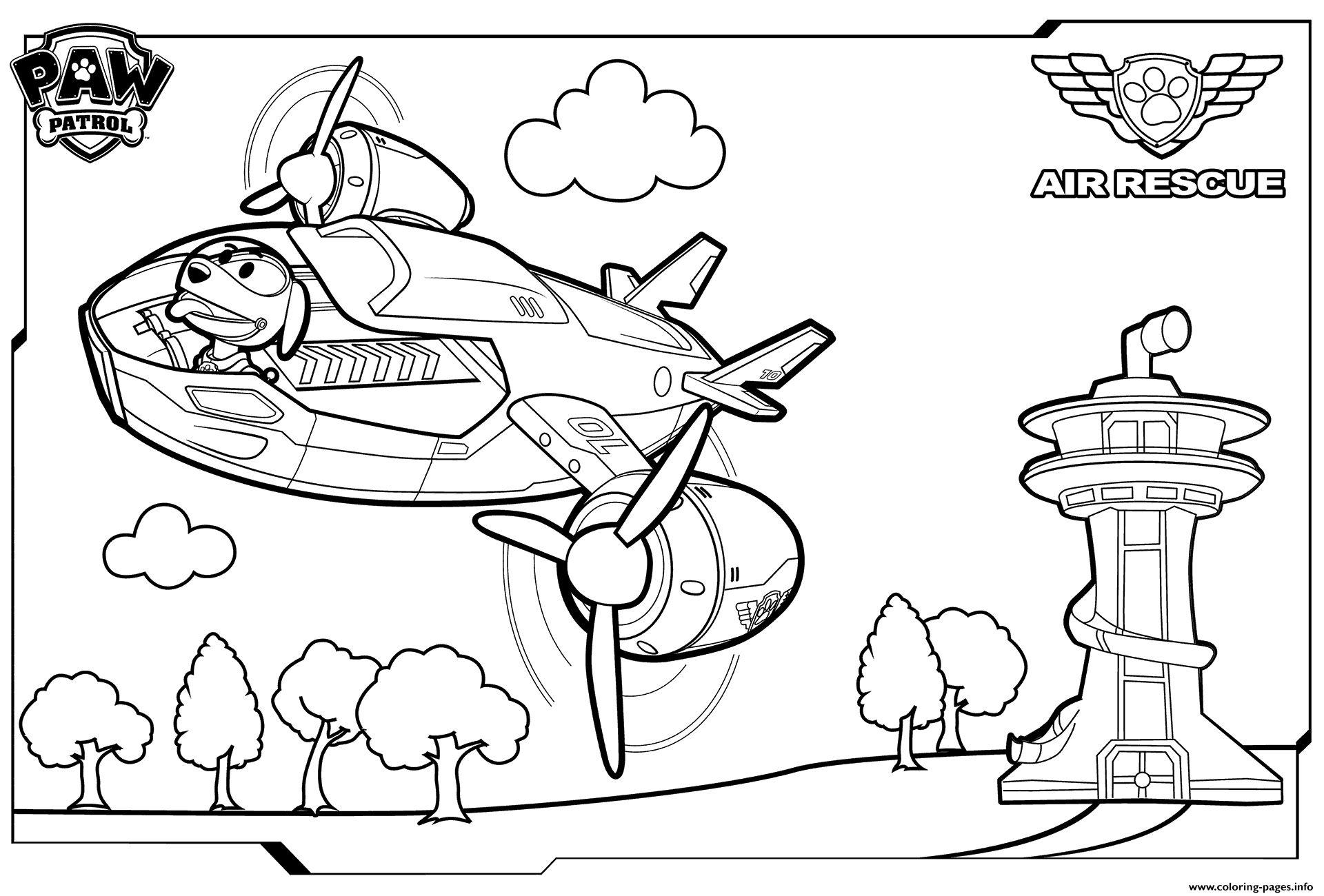 Paw Patrol Coloring Pages Paw Patrol Air Patroller Coloring Coloring Pages Printable Albanysinsanity Com Desenhos