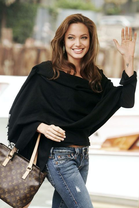 A look back at the fashion history of the Louis Vuitton monogram bag: Angelina Jolie, 2000s